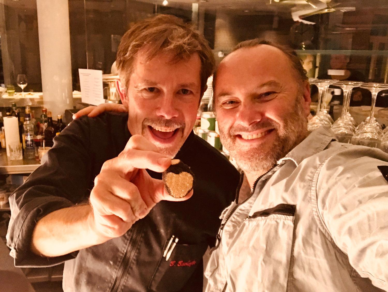Sternkoch Bernd Bachofer zusammen mit Zoltán Bagaméry